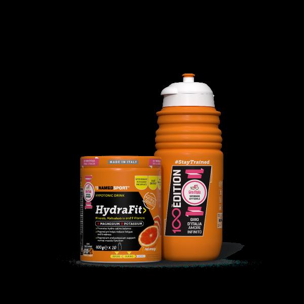 HYDRAFIT> - 400g + Sportbottle 100th Giro Edition
