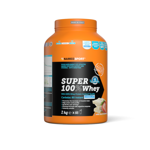 SUPER 100% WHEY White Choco & Strawberry - 2kg